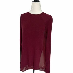 Rudsak Dionne Sweater/Top Sheer Back XS